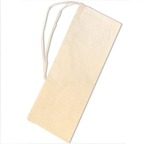 SACASAC ® Bolsa de baqueta - Protección - Asa de Transporte - 25 x 65 cm. 100% algodón - Fab. Francia...