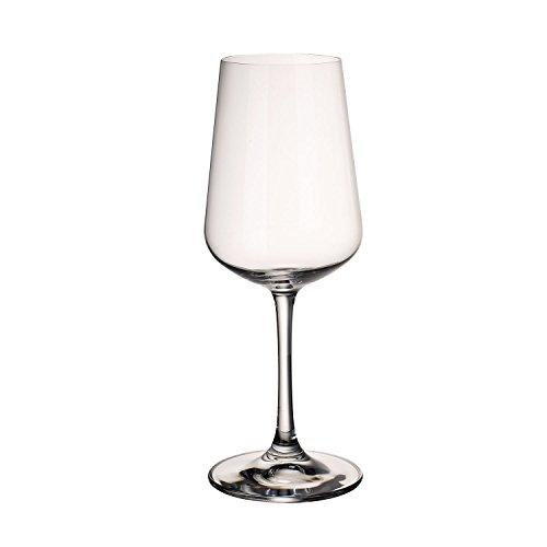 Villeroy & Boch Ovid Weißweingläser, 4er-Set, 380 ml, Kristallglas, Klar