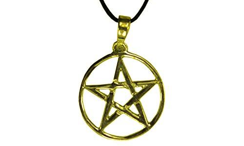 Erlebnis-Mittelalter Wikinger / LARP / keltisch / Mittelalter Anhänger, verzinnt und nickelfrei (Anhänger Pentagramm klein gold)