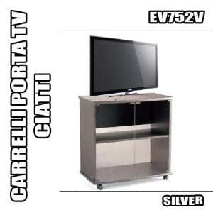 Rbn 07 carrello porta tv ciatti ev752 silver mobile con for Carrello porta ombrellone e sdraio