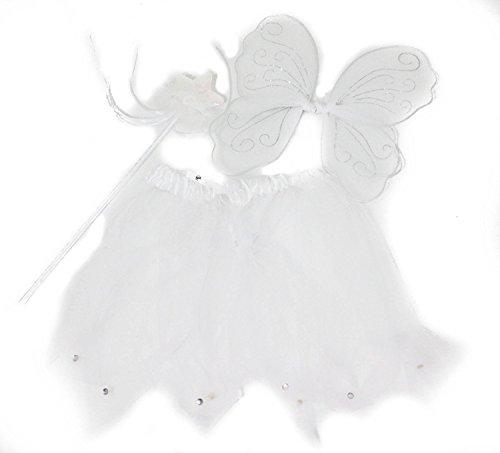 Mädchen/Damen-Zauberstab Fee mit Flügeln und Tutu-Set, (Fee Kind Flügel)