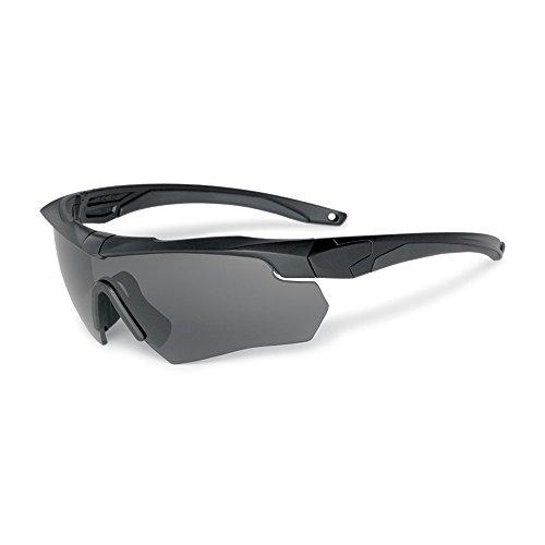EnzoDate Lunettes Militaires balistiques 3LS, 4LS ou 5LS Kit, Lunettes de Soleil de l'armée polarisée Hommes Tactiques Eyeshield (Noir, 3 Verres)