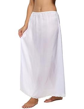 cooshional Falda largo de encaje de verano falda de cintura elástica para las mujeres