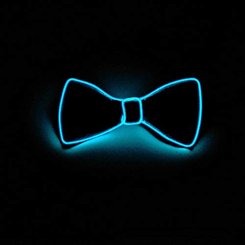 TianranRT Halloween Licht Auf Hals LED Fliege Krawatte Männer/Jungen Licht Auf Fliege Krawatte (Himmelblau)