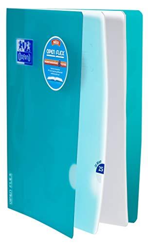 Oxford 400095631 Schulheft OpenFlex 10er Pack A4 32 Blatt Lineatur 25 - liniert mit weißem Rand koralle & aqua - 2