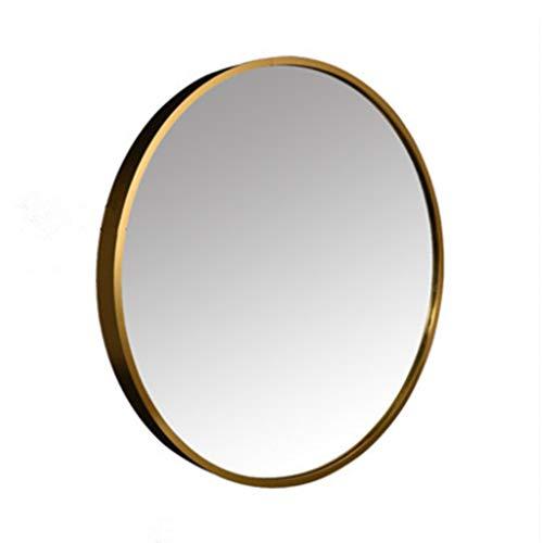 An der Wand befestigter Spiegel runder Goldmetallrahmen HD Spiegel-Badezimmer-Make-upwandspiegel mit komplettem Installationssatz kreativer moderner Durchmesser 30cm-80cm -