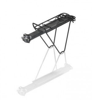 XLC Gepäckträger RP-R07 schwarz, Alu, für Sattelstütze