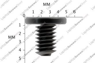PACK OF 100 M3x4 NEW Black Zinc Wafer Head Laptop Machine Screw Philips Head Supplied By LaptopScrewsDirect