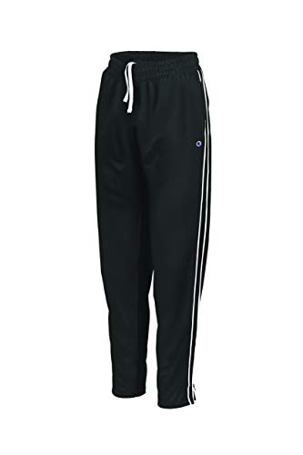 Athletic Track Pants (Champion Damen Track Pant Jogginghose, schwarz/weiß, Klein)