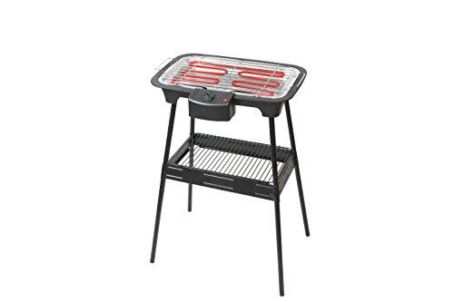 Triomph ETF1526 Barbecue Electrique sur Pied, 2000 W, Noir