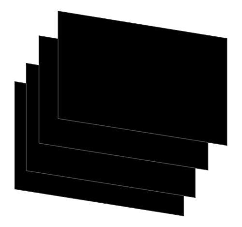 House of & Papier A6160gsm sterben Karte–Schwarz (300Blatt) Stück