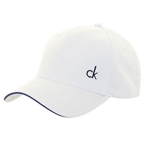 Calvin Klein Herren Baseball Cap One size Gr. One size, weiß/marineblau