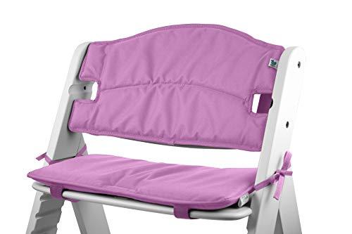 Schaum-sitzpolster (Tinydo Hochstuhl-Sitzkissen optimal für Hauck Alpha und ähnliche Treppenhochstühle 2teilg. Set mit Memory-Schaum-Dämpfung Sitzverkleinerer-Auflage für Babystühle rutschfest, pflegeleicht! (Violett))