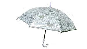 PERLETTI 25966 Lady Mini 54/8 - Paraguas para Hombre (Resistente al Viento, 3 Secciones, con Volantes, Lunares)