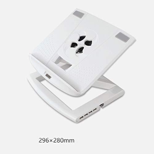LBYMYB Computerständer Hubständer Notebook höhenverstellbarer Tray-Mount-Kühler Laptop-Kühler (Color : White) -