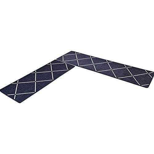 TIANQI rutschfeste Küchenteppich Wasseraufnahmematte Läufer Teppiche Set Klassische Matte (8mm Dicke) (Color : Blue, Size : 70X180cm) -