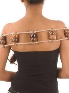 Hölzerner Seil-Rückenmassager/manuelles Massagegerät mit hölzernen Rollen, für gute Gesundheit, Stressentferner, Geschenk für Weihnachten oder zum Geburtstag, für Ihre