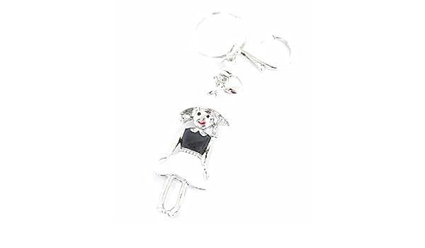 PT233b Bijou de Sac Ailes d/'Ange Strass Doré avec Pompon Noir Porte-Clés