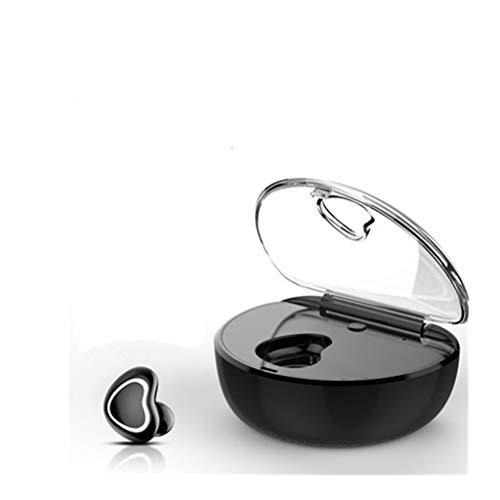 GT Bluetooth-Ohrhörer, Mini kabelloser Dual-In-Ear-Kopfhörer mit Mikrofon für die Geräuschreduzierung der Ladebox, schweißfestes Bluetooth-Headset für iPhone iPad Jabra Bluetooth Ipod