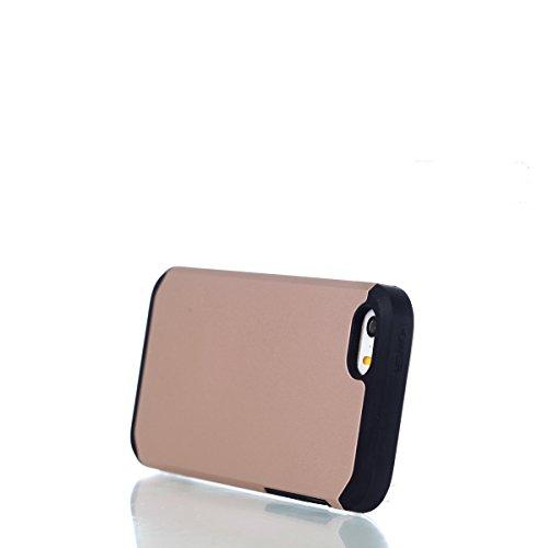 Per iphone 5 5S SE Custodia, Ekakashop di lusso Hybrid Heavy Duty antiurto morbido silicone Gel & Rigida PC 2-in-1 non Layer antiscivolo Anti-dirt Protezione Protettivo Cover Case per Apple iphone 5 5 Rosa