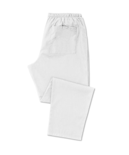 Alexandra d398-wh-tl-l Unisex Scrub Hosen, hoch, groß, weiß (Hose Hoch Weiß Scrub)