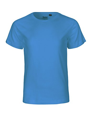 Spirit of Isis -Neutral- Kids Short Sleeved T-shirt, 100% Bio-Baumwolle. Fairtrade, Oeko-Tex und Ecolabel zertifiziert, Textilfarbe: saphirblau, Gr.: 140 - Junge Bio-kinder-t-shirt
