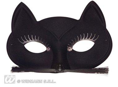 Schwarze Maske Katze Katzenmaske Augenmaske (Katze Maske Schwarze Fancy)