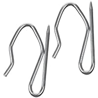 The Bead Shop Heavy Duty Zinc Metal Drapery Pin Hooks (50 Pack) for Pencil Pleat Curtains
