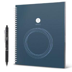 Rocketbook Wave smarter wiederverwendbarer Notebook ? Executive / kleine - lade Notizen mit der iOS-/Android-App hoch, leere dann alle Seiten in der Mikrowelle und starte neu