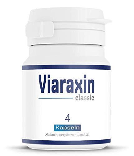 Viaraxin - classic | 4 Kapseln, hochdosiert für für aktive Männer | Die Alternative für Potenzmittel - Hergestellt in Deutschland (1) -