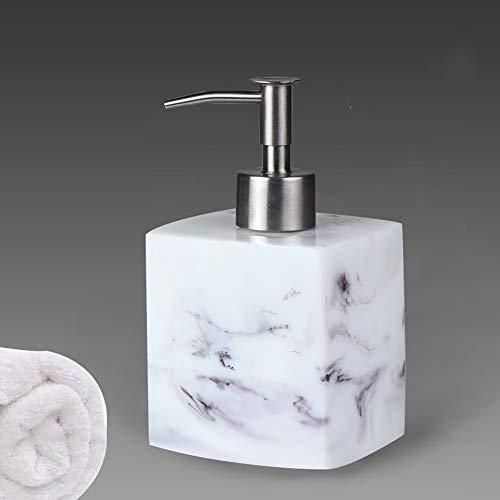 ZUEN Lotion Flasche 500 ML Harz Seife Flasche Kreative Marmor Shampoo Dispenser Presse Händedesinfektionsmittel Flasche,A -