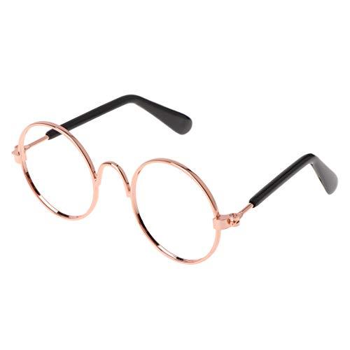 YounggerY Pet Gläser Kostüm Sonnenbrille Runde Lustige Mode Requisiten Hund Katze Versorgung Produkte Keine Linse
