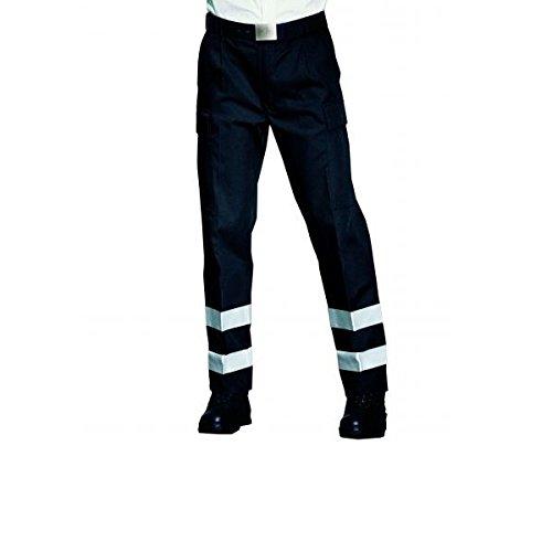 Pfitzner Rettungsdienst Hose , marine, mit Reflexstreifen silber. Anziehen und Kompetenz ausstrahlen. Moderne bequeme Rettungsdiensthose