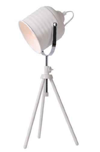 Lucide STUDIO - Lampe De Table - Ø 22,5 cm - Blanc