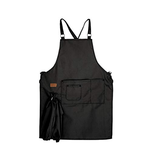 od Service Küche Kochen Sleeveless Food Service Koch Wear Kochjacke Restaurant Chef Uniform,Black ()
