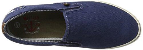 Mustang Herren 4103-401-800 Slipper Blau (800 dunkelblau) roI6vwh