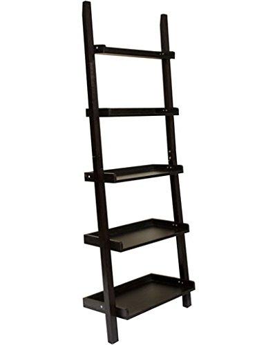 Bücherregale WSSF- Ladder-Shaped Holz 5 Tiers Lagerung Moderne Wohnzimmer TV Wand Schlafzimmer Bodenstehende Blume Stand Multifunktions Home Organisation Finishing Rack, 63,5 * 35,5 * 182 cm -