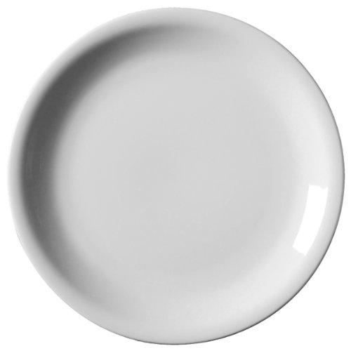 Nevilles Royal Genware Assiette à bord étroit 22 cm-Lot de 6 assiettes Plates 21 cm + Emplacement Nevilles en porcelaine Blanc