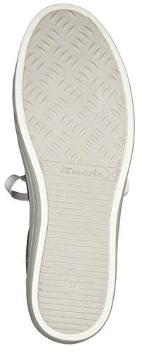 Tamaris 23604, Scarpe da Ginnastica Basse Donna WHT/SILVER GL.