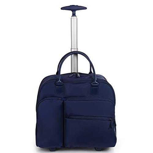 Trolley Koffer Gepäck Gepäck 2 Räder, Laptoptasche Einkaufstasche Leichte wasserdichte Business Travel Wheel Rolling Small Wheel Pack WHSGBB (Color : Blue, Size : 22x41x38cm) -