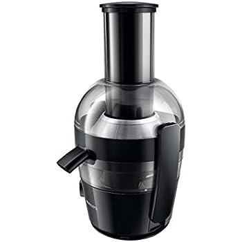 Philips HR1855/00 Centrifugeuse Noire 700W, Quickclean Nettoyage 1mn, cheminée XL, tamis inversé electro poli, jusqu' à 2L de jus en 1 extraction