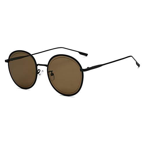 qiansu Neue Sonnenbrille Frauen Mode Runde Sonnenbrille Für Männer Frauen Weibliche Brillen Rot Schwarz Schatten UV400 C1