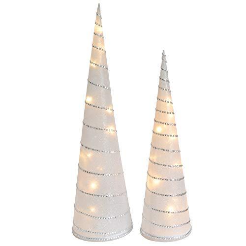 INtrenDU Weihnachtspyramiden im Set 47/58cm LED Pyramide Weihnachtsbeleuchtung Weihnachtsdeko (Ausführung 2)