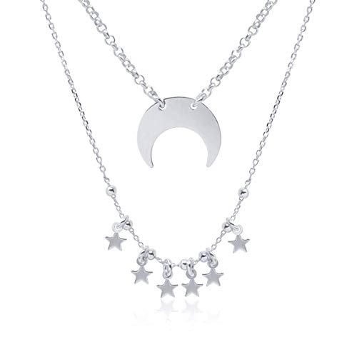 1b698e37de8e Collar Doble Colgante Media Luna Invertida para Mujer