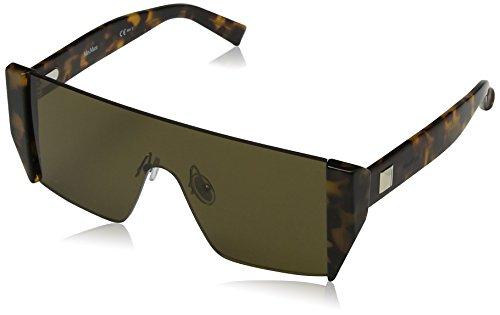 Max mara mm lina ii 70 086, occhiali da sole donna, marrone (dark havana/brown), 99