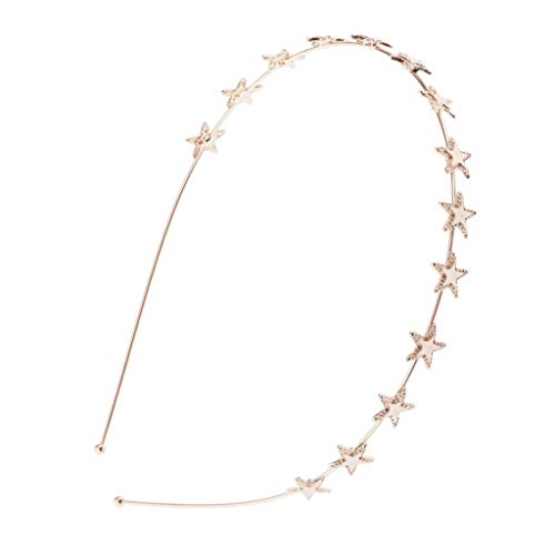 dailymall Frauen Mädchen Stirnband Sterne Haarband Krone Haar Zubehör - Golden