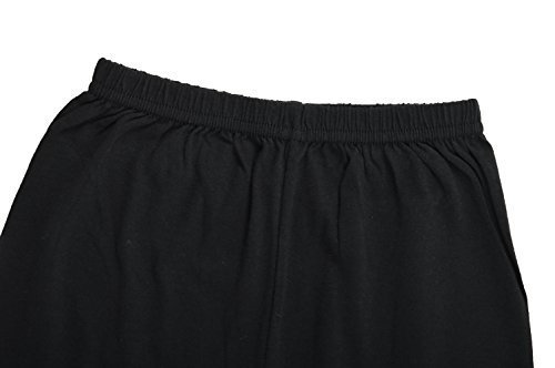 BODYCARE Pure Cotton Plain Black Cycling Shorts for Girls & Kids (73B-Packof3-10-12 Years)(80CM)