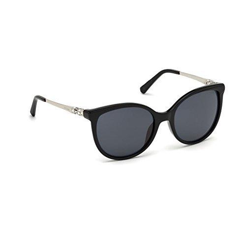 Swarovski sk0155 01c occhiale da sole nero black sunglasses sonnenbrille donna