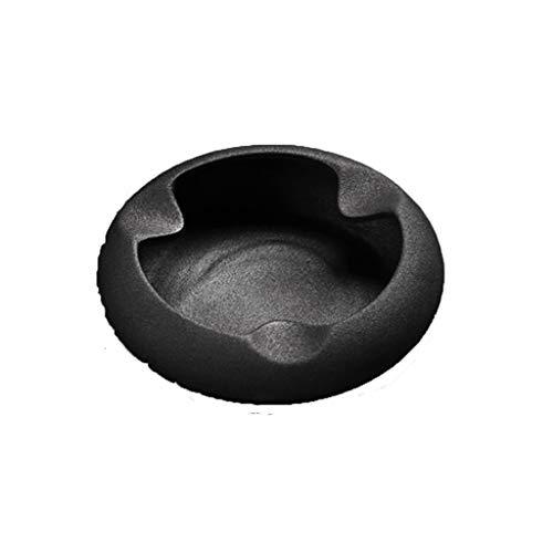 LSXLSD Bar Internet Cafe Tabak Ash Soot Jar Zylinder Soot Vat Round Retro Aschenbecher Soot Crock (Farbe: Schwarz) -