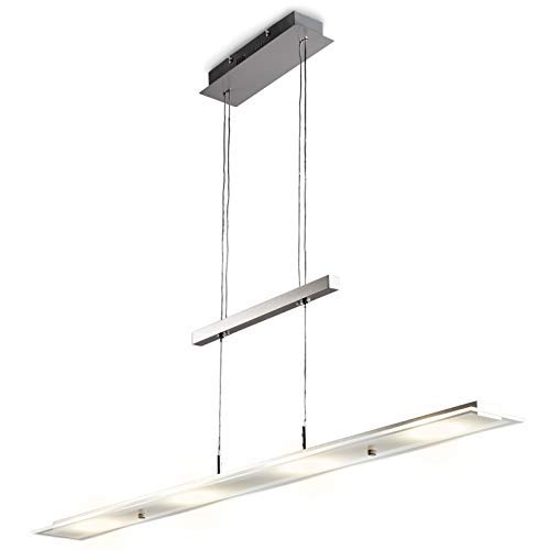 LED Pendelleuchte inkl. 18W 1600lm LED Platine, Esstischleuchte, 3000K warmweiß, IP20 Echtglas